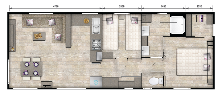 plan mobilhome luxe